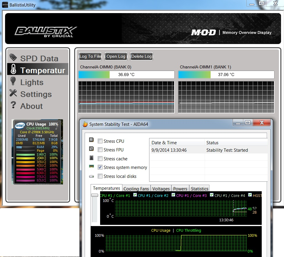 Stress Test Your Portfolio: Crucial Ballistix Tactical Tracer 8 GB DDR3 1600 Mhz CL8 W